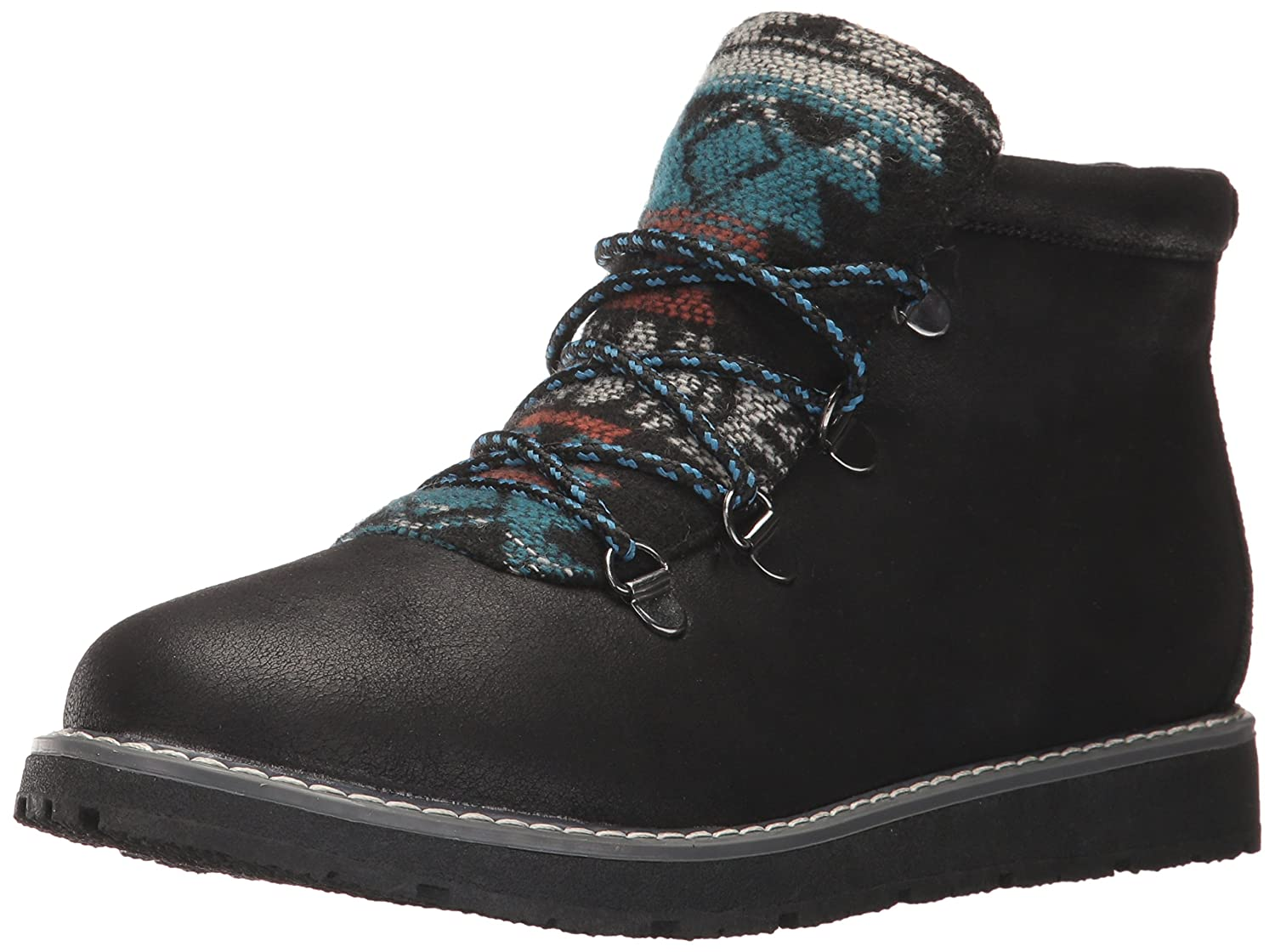 Skechers BOBS from Women's Bobs Alpine-Keep Trekking. Aztec Tongue W Memory Foam. Hiking Boot B06XGYHF1C 5.5 B(M) US|Black