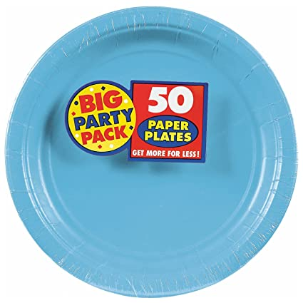 Caribbean Blue Big Party Pack Dinner Plates (50)  sc 1 st  Amazon.com & Amazon.com: Caribbean Blue Big Party Pack Dinner Plates (50): Toys ...
