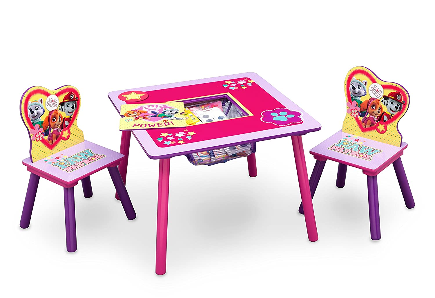 amazoncom delta children table and chair set with storage nick jr paw patrolskye u0026 everest baby