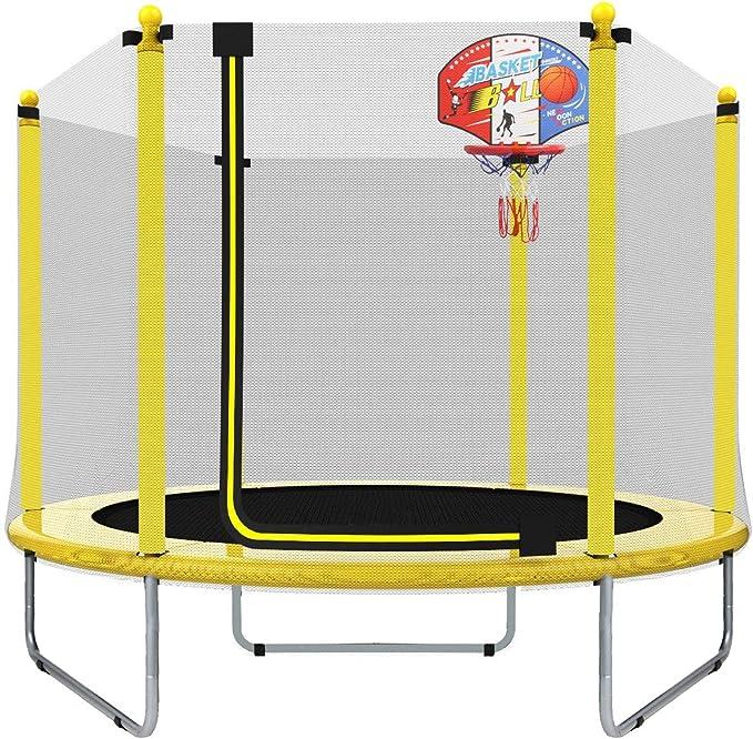 LANGXUN 5FT (150cm) Trampolín Interior / Exterior   para niños Niños Los Mejores Regalos de cumpleaños Buenas Herramientas de Ejercicio (φ150*120)
