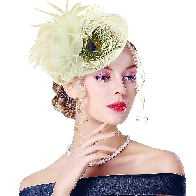 Edith qi Femmes Cappello di Cerimonia 4cb6fcbb5795