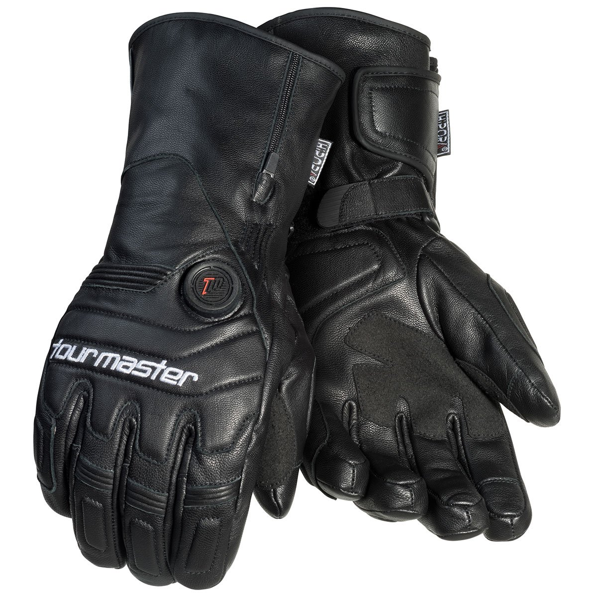 Tourmaster Synergy 7.4V Battery Heated Leather Gloves (MEDIUM) (BLACK) by Tourmaster (Image #1)