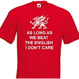 Tant que nous beat the English Wales 6 Nations T-shirt de Rugby pour homme-Taille 8