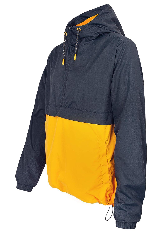 Eight2Nine Herren Half Zip Schlupf Jacke im Colorblock Style