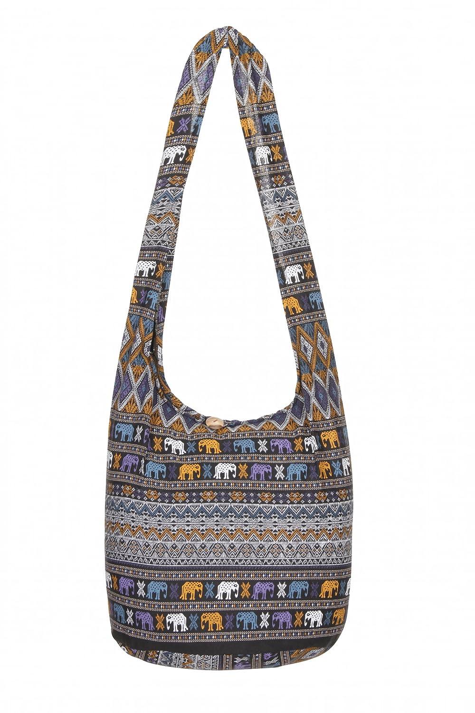 779ee58592 Thai Hippie Bag Elephant 100% Cotton Boho Gypsy Sling Purse Beach Travel Shoulder  Bag