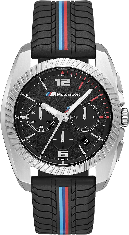 BMW M Motorsport - Reloj Deportivo con cronógrafo, 43 mm
