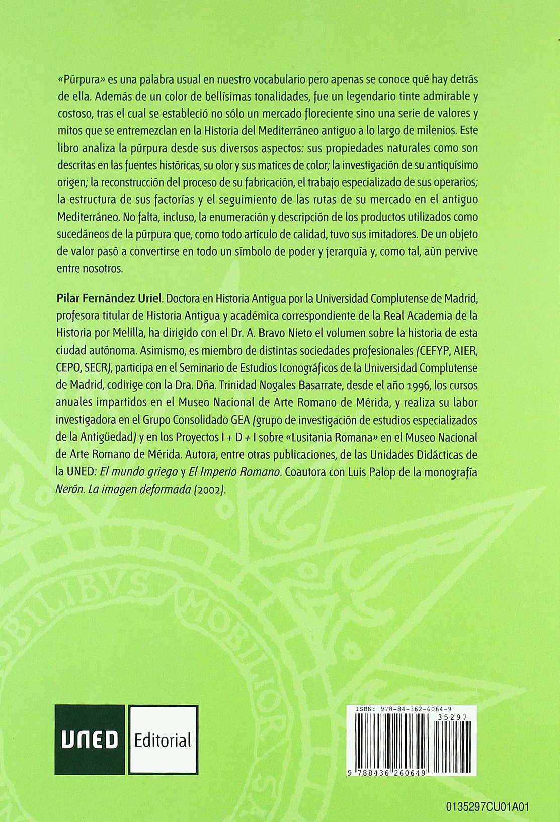 Púrpura. Del Mercado Al Poder (CUADERNOS UNED): Amazon.es: Fernández Uriel, Pilar: Libros