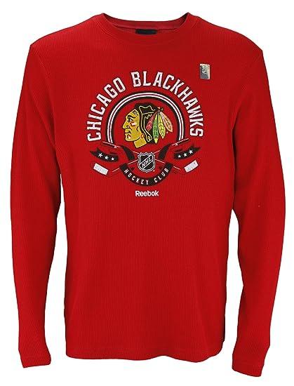 Amazon.com   Chicago Blackhawks NHL Men s Long Sleeve Thermal Shirt ... 048bc8649