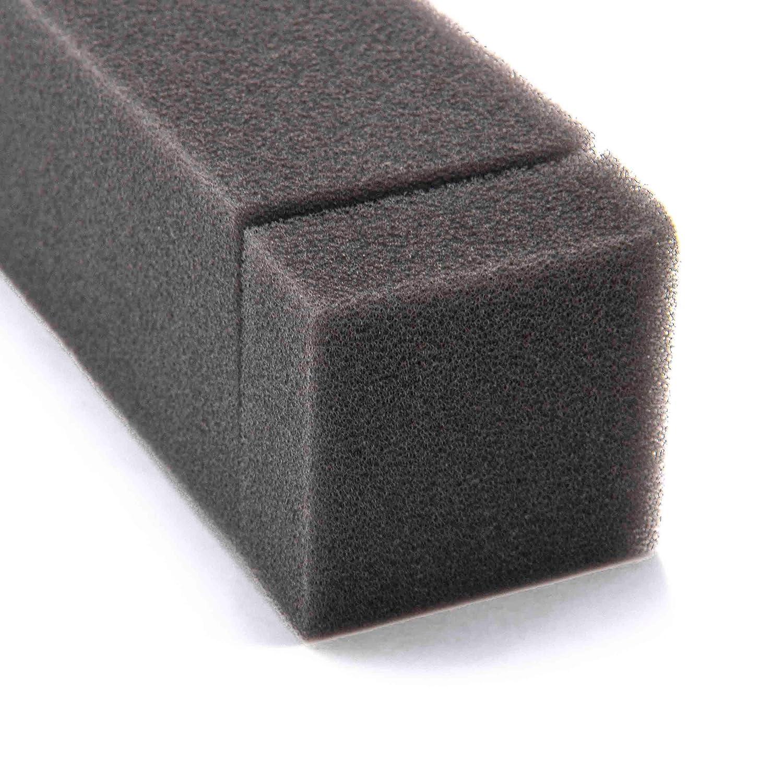 vhbw Schaum-Luftfilter Ersatzfilter 14 x 3,9 x 3,0cm schwarz f/ür Rasenm/äher wie Tecumseh 23410026