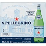 S.Pellegrino Sparkling Natural Mineral Water, 33.8 fl oz. (Pack of 12)
