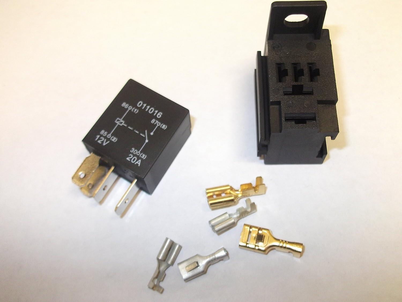 Micro relay 4/pin 12/V 20/AMP Automotive make and Break auto moto