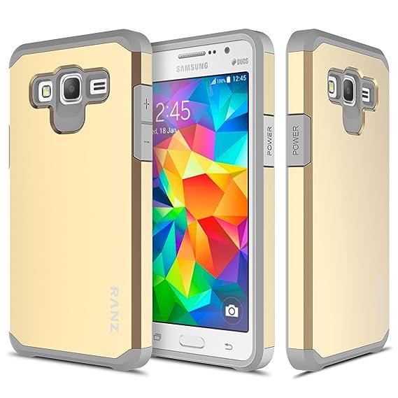 Amazoncom Samsung Galaxy Grand Prime Case Ranz Grey With Gold