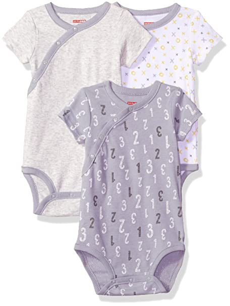 02800fb3e182 Skip Hop Baby Girls  Unisex Starry Chevron Side Snap Short Sleeve ...