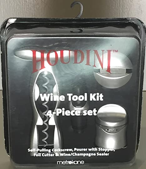 Amazon com | Houdini Wine Tool Kit, 4-Piece: Bar Tools