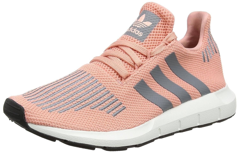 Adidas Damen Swift Run W Laufschuhe Mehrfarbig (Trace Pink F17/Grau Three F17/Crystal Weiß S16)