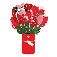 Lovepop Disney's Mickey & Minnie Be Mine Bouquet - Pop Up Flowers, Valentine's Day Gift, 3D Flowers, Flower Bouquet, Valentine's Day Gift for Wife, Valentine's Day Card for Kids