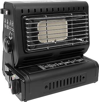 Calentador de Gas Gas Calentador radiante para la En exterior con Piezo Ignición - Negro: Amazon.es: Deportes y aire libre