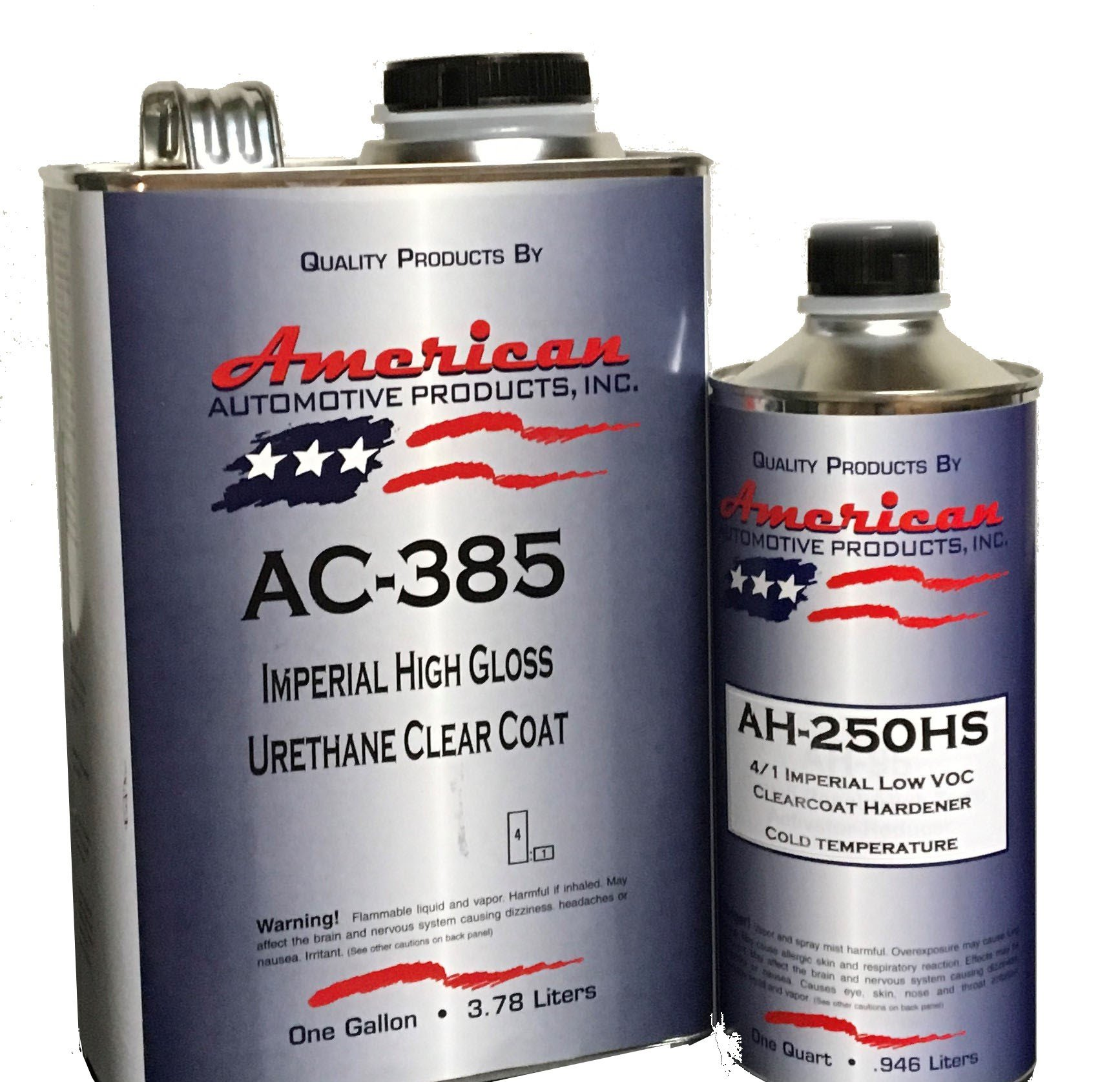 AC-385HS Automotive 2K Urethane Clear Coat Gallon Clearcoat Kit Fast Activator by American Automotive Products