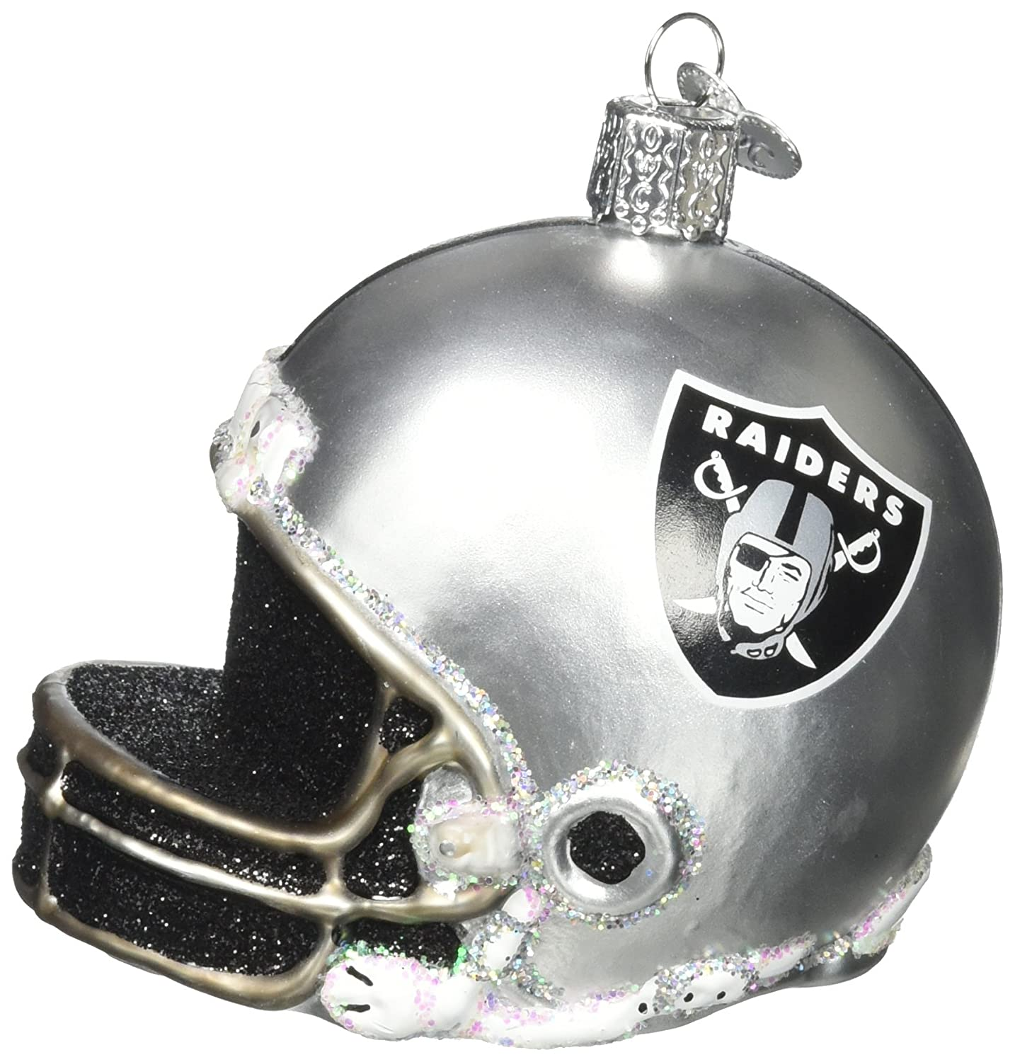 Amazon.com: Old World Christmas Ornament Oakland Raiders Hoodie ...