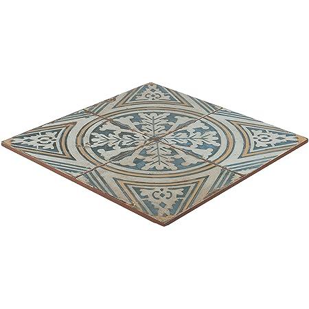 Vintage Tile White Blue Fs1 Retro Wall Floor Tiles 45x45 Cm Blue
