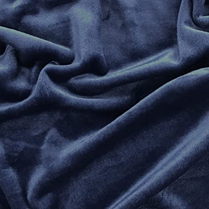 Azul marino super suave Plain Cuddle tela de forro polar para manualidades, mantas 60 &quot