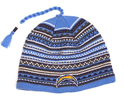 Reebok NFL Licensed Tassel Knit Beanie Hat Cap Lid Toque (San Diego  Chargers) 35ffe4794b1