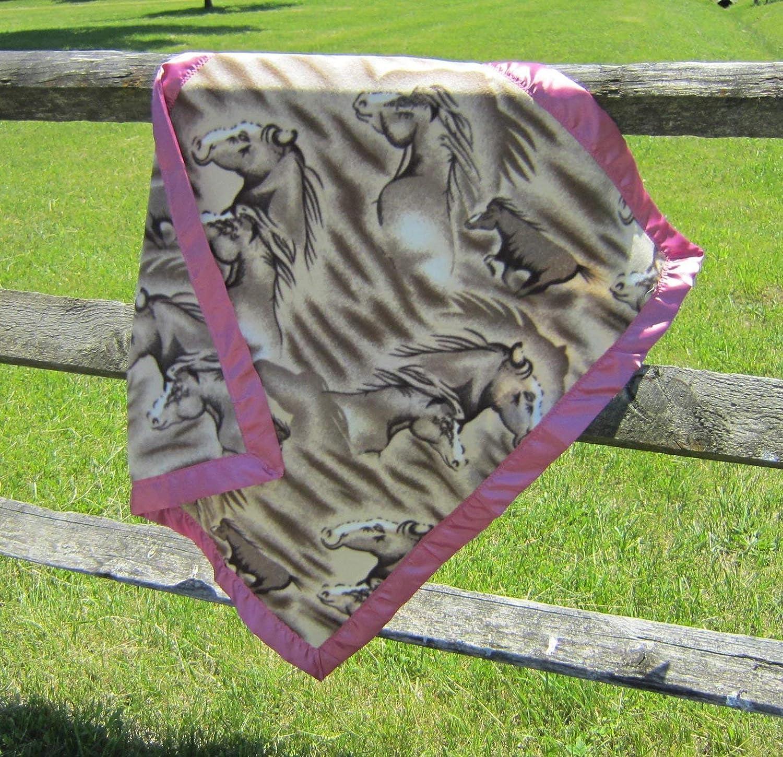 Amazon Com Horse Head Equestrian Baby Blanket Single Layer Fleece