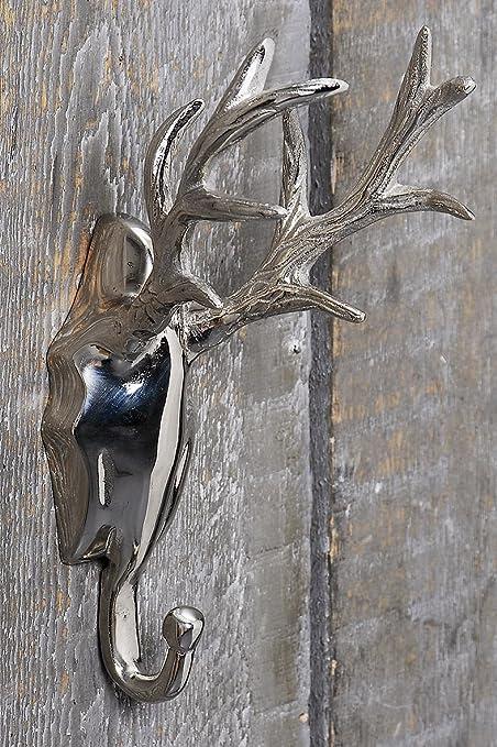 Cuernos - Perchero * cabeza de ciervo Plata * gancho gancho ...