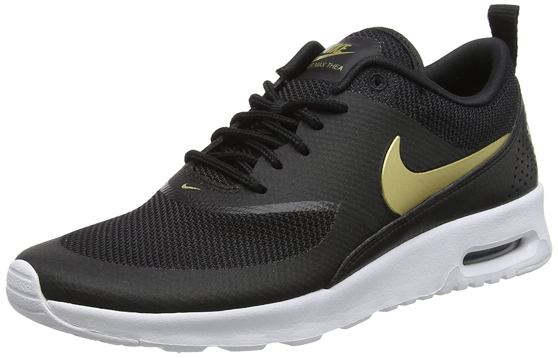 Nike Wmns Air MAX Thea J, Zapatillas de Gimnasia para Mujer 38 EU|Multicolor (Black / Metallic Gold 002)