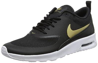 the latest 00990 0a1a3 Nike Damen WMNS AIR MAX THEA J Laufschuhe, Mehrfarbig (BlackMetallic Gold-