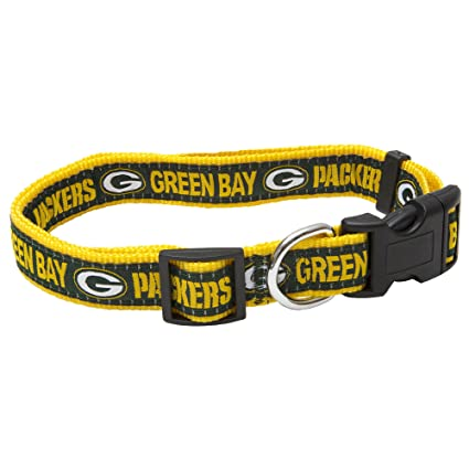 4b961ad4469 Amazon.com : Pets First NFL Green Bay Packers Pet Collar, Large ...