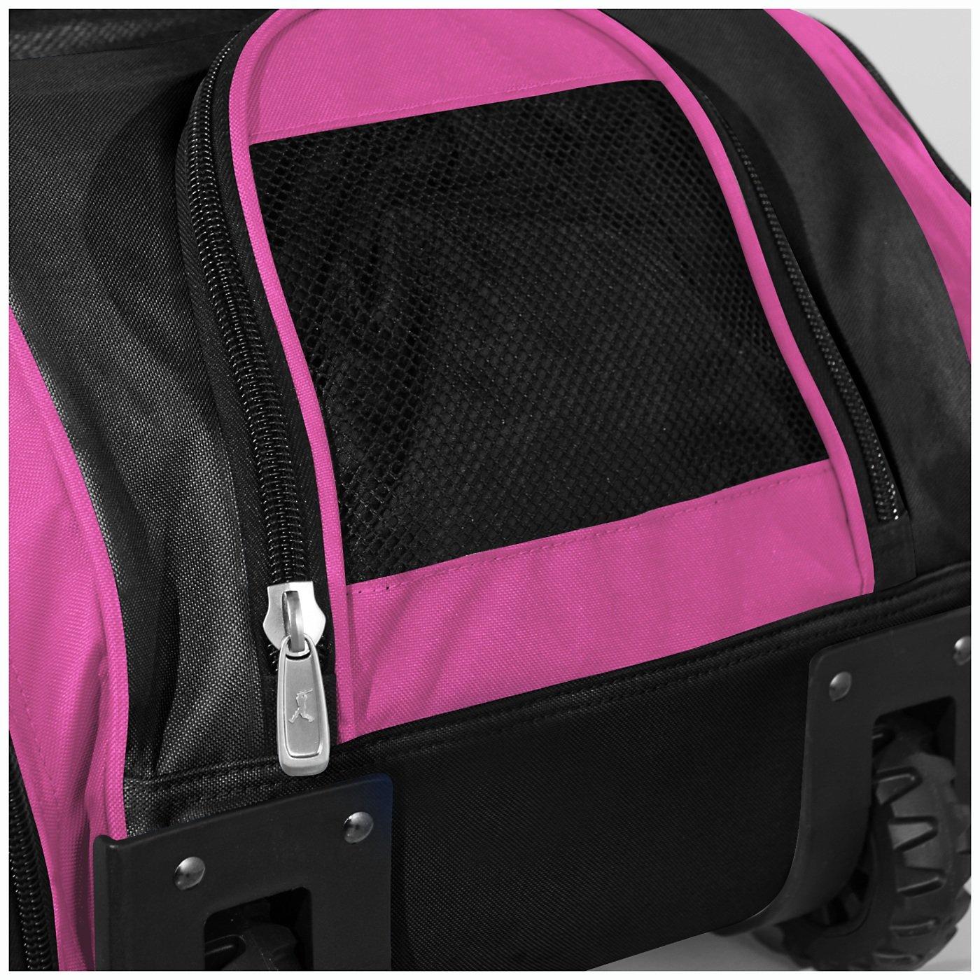 Boombah Beast Baseball/Softball Bat Bag - 40'' x 14'' x 13'' - Black/Pink - Holds 8 Bats, Glove & Shoe Compartments by Boombah (Image #4)