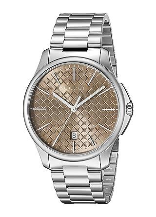 1b6d5f69c87 Amazon.com  Gucci G-Timeless Analog Display Swiss Quartz Silver-Tone ...