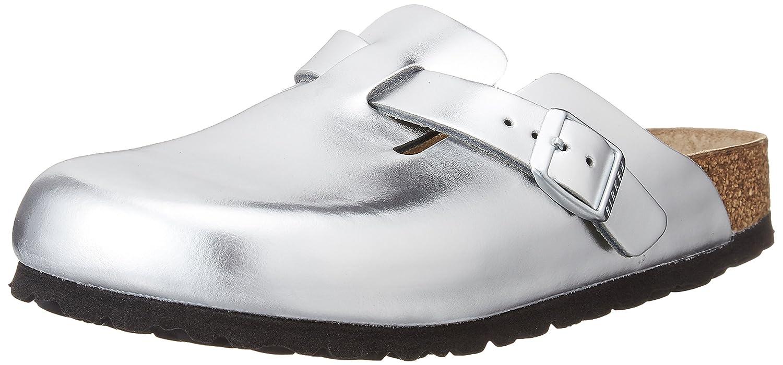 Birkenstock Women Boston Leather Soft-Footbed Clogs