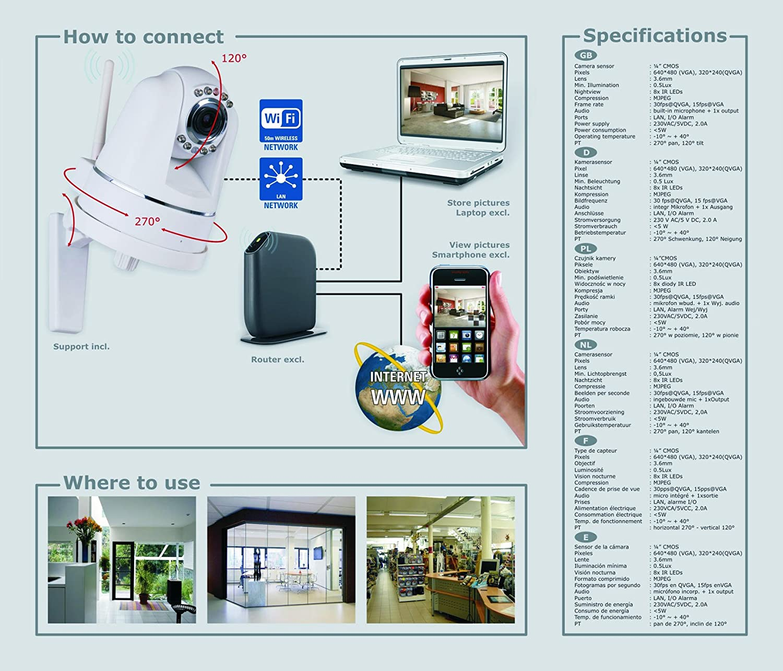 ELRO C704IP WIFI Pan and Tilt Network Camera: Amazon.co.uk: DIY & Tools