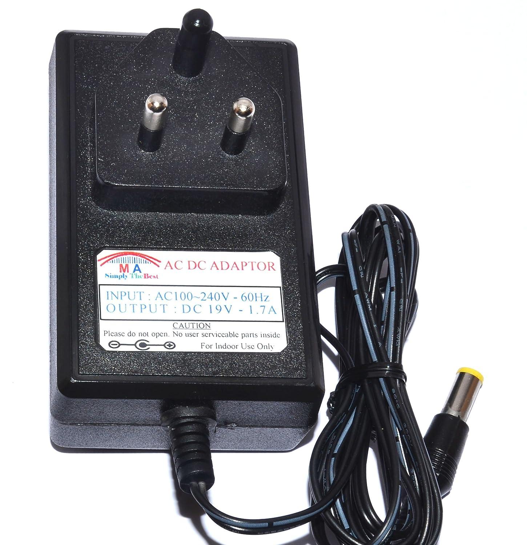 MA Enterprises 19V DC 1 7A Power Adapter for LG/LCD/LED/Monitor/Laptop/Mini  Laptop(Multicolour)
