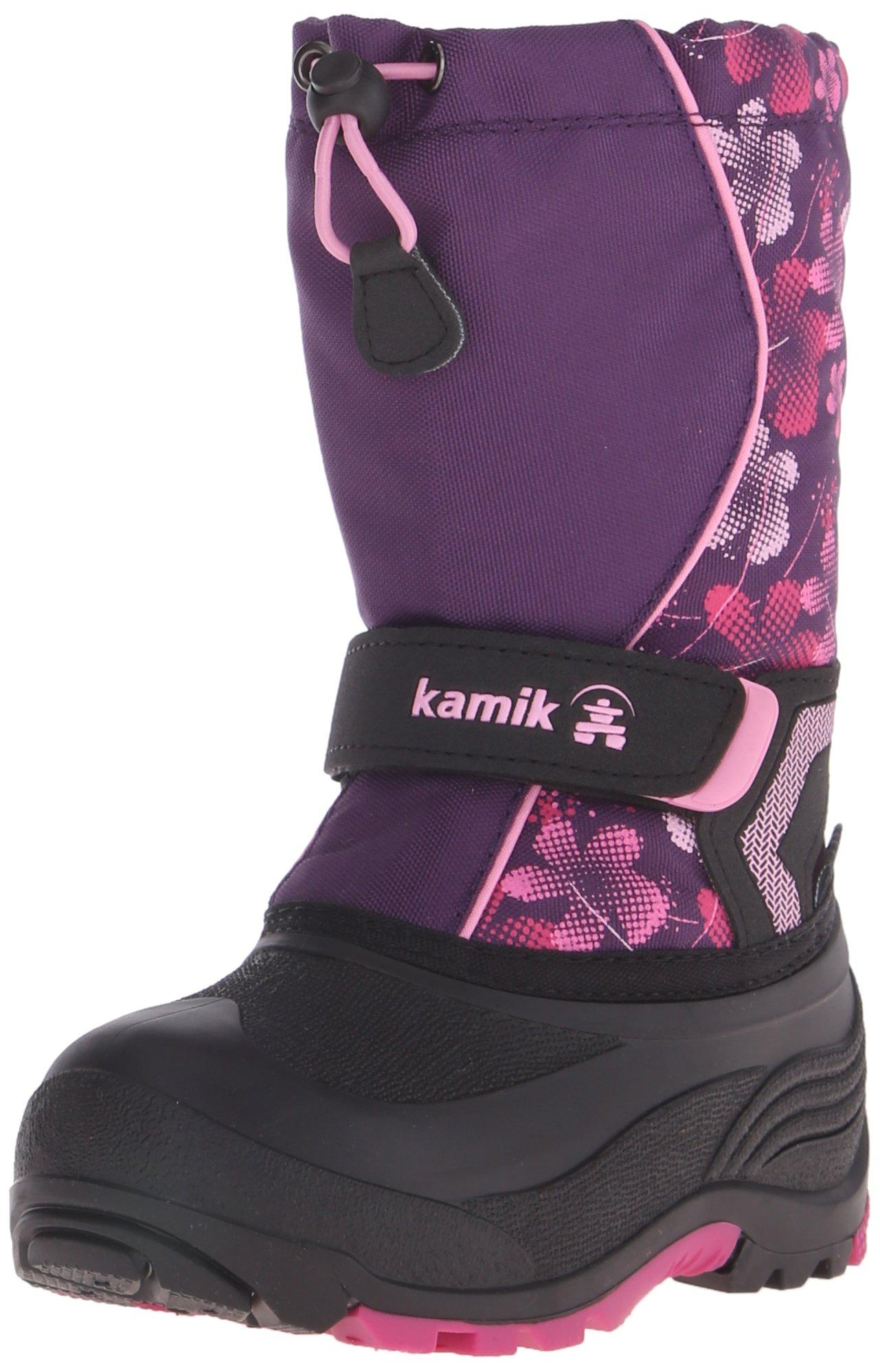 Kamik Snowbank2 Snow Boot (Toddler/Little Kid/Big Kid), Eggplant/Magenta, 5 M US Big Kid