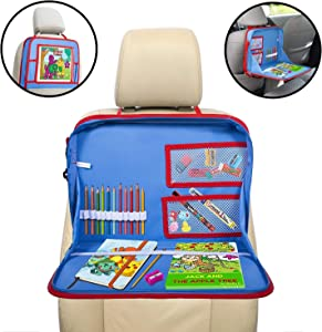 lebogner Kids Car Seat Activity Tray, Backseat iPad Or Tablet Holder, Carry Bag with Storage Organizer Mesh Pockets and Shoulder Strap, On The Go Travel Lap Desk to Play, Eat, Or A Writing Surface