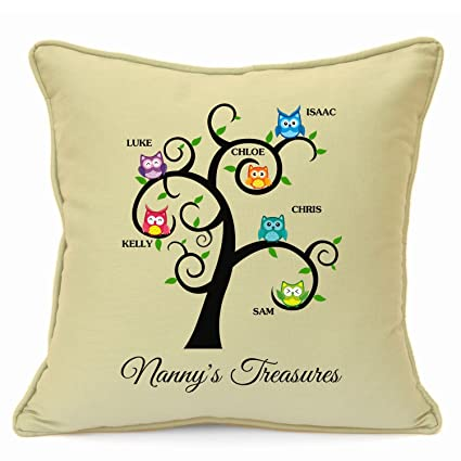 Personalised Presents Gifts For Grandma Nanny God Mother Birthday Mothers Day Christmas Xmas Family Tree Owls