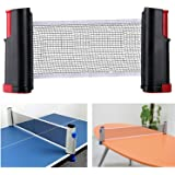 DerBlue Portable Retractable and Adjustable Table Tennis Net Rack/ Replacement Ping Pong Net Accessory