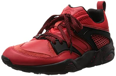 ... shop puma bog red rise x blaze of glory trinomic sneaker men leather  shoe size b8765 384b2acc7