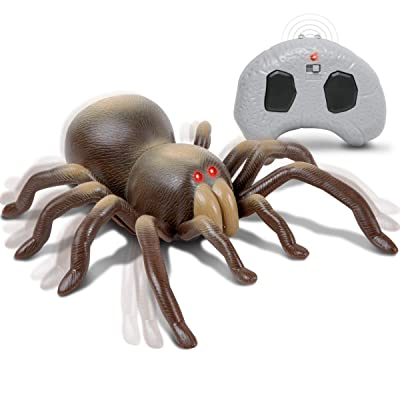Discovery Kids RC Moving Tarantula Spider, Wireless Remote Control Toy for Kids, Great for Pranks and Halloween Decorations, Realistic Scurrying Movement, Glowing Scary Red LED Eyes: Toys & Games [5Bkhe2004862]