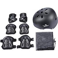 Set di casco per Bambini (Gomitiere + Ginocchiere + Protezione Polso + Casco) per hoverboard, scooter, BMX e bicicletta,Skateboard, Sports Ecc