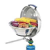 Campingaz KETTLE - MAGMA Tischgrill silber klein Balkon Camping Picknick 1-flammig ✔ Deckel ✔ rund ✔ tragbar ✔ Grillen mit Gas ✔ für den Tisch