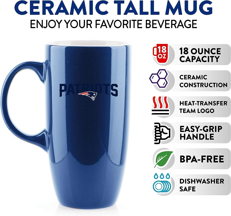 Duck House NFL New England Patriots Tall Ceramic Coffee Mug 18 oz.