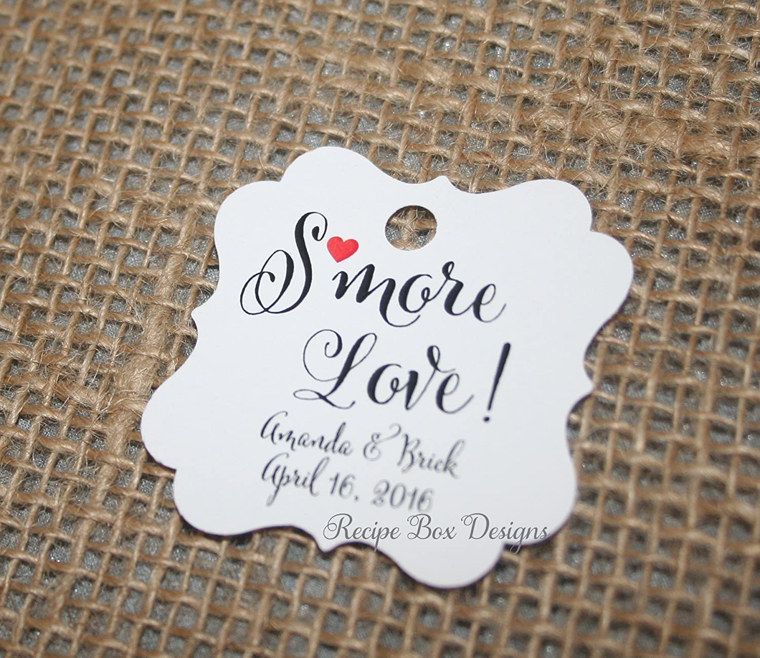 Amazon.com: Smore Love Wedding Favor Tags, Smores Tags, Tags only ...