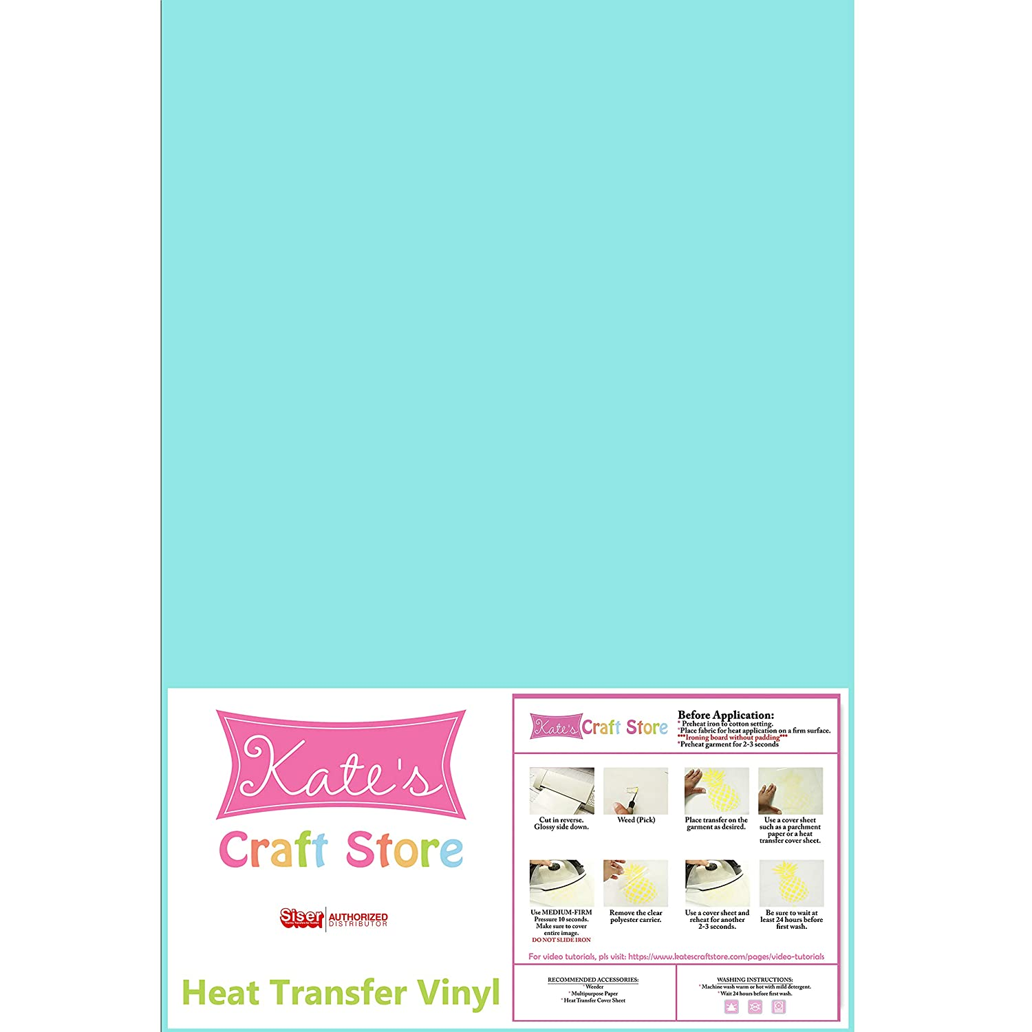 Aqua Marine Heat Press Machines. Iron on for Silhouette Cameo FilmTailor Cricut PU HTV 10 x 12 Heat Transfer Vinyl Basic 5 Sheets Excellent for T-Shirt Hats and Any Fabric