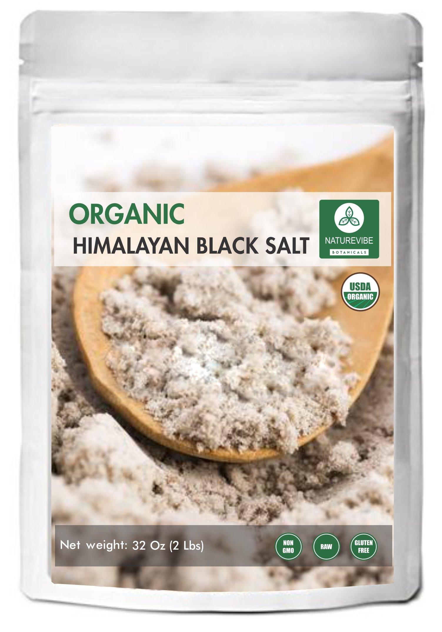 100% Natural & Healthy Himalayan Black Salt (2lb) by Naturevibe Botanicals, Gluten-Free & Non-GMO (32 ounces) (Fine - Cooking Size) by Naturevibe Botanicals
