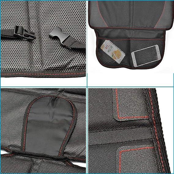 Queta Set de Protecteur de Si/ège Voiture Organisateur de Voiture avec Poches Grand Rangement Imperm/éable Protection de Si/ège Auto Support iPad Transparent Taille Universelle