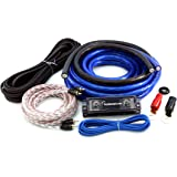 KnuKonceptz Bassik 0 Gauge Complete Amplifier Installation Amp Wiring Kit with RCA